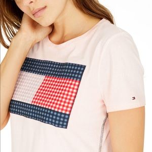 Tommy Hilfiger Women's Gingham Flag T-Shirt